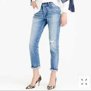 J. Crew Slim Broken-In Boyfriend Distressed Jeans